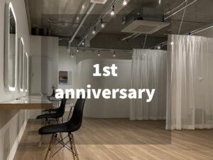 1st anniversary♪